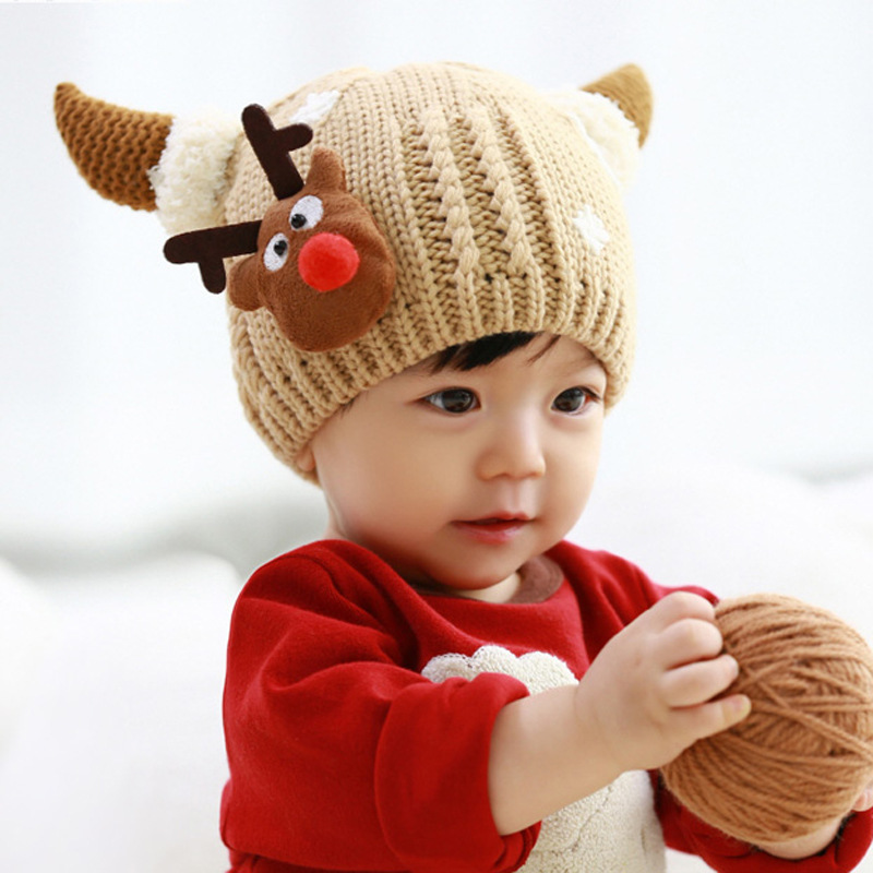 spring autumn winter christmas deer acrylic lovely funny knitting childrens baby hat buy knitted baby christmas hatlovely knitted baby christmas hat
