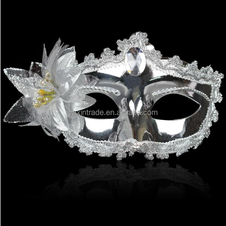 Sexy Venetian Lace Feather Ball Masquerade Mask Paillette Flower Party Eye Masks