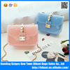 Fashion Messenger Bag Transparent Candy Jelly Bag Chain PVC Bag
