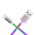 Shenzhen BSCI factory new rainbow color usb fast charging cable
