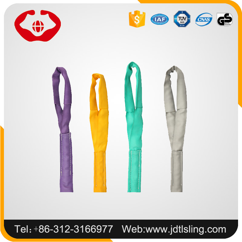 Wholesale 8 ton tubular belt/strap webbing with safety factor 5:1 6:1 7:1