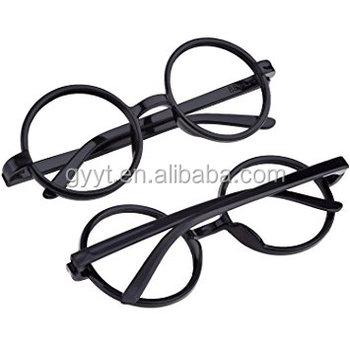 96afacbaf0 Black Plastic Wizard Glasses Round Glasses Frame No Lenses for Halloween  Costume Party