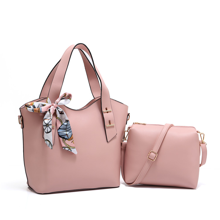 women shoulder bag PU handbag/ ladies tote bag with small bag 2 in 1available have stock