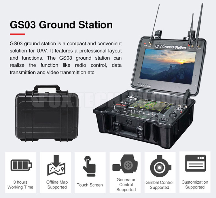 FOXTECH GS-03 Long Distance Remote Control System for Drone