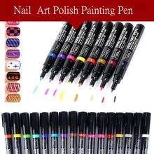 16 Colors Nail Art Pen Polish Painting Dottting Drawing UV Gel Design Manicure Tool Hot Wholesales