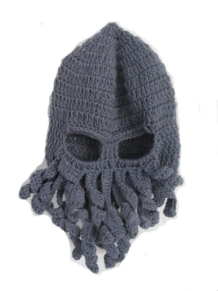 54f2add4c25fc Get Quotations · Mens Octopus Beard Knit Hat Winter Warm Funny Beanie Hat  Face Mask