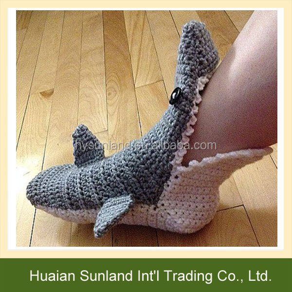 W 976 Gehäkelten Lustig Hai Socken Stricken Hai Socken Hausschuhe