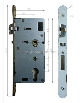 European standard door lock mortise RFID card lock mortise lockcore