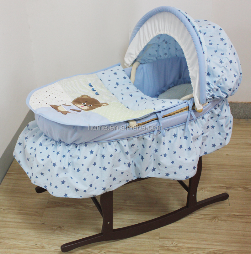 Handmade Wicker Moses Basket : New products embroidery baby moses basket