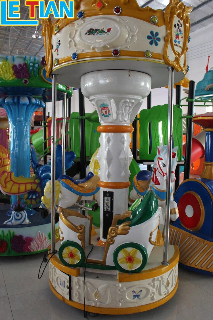 Children Outdoor Equipment 3 seats Mini Carousel for sale