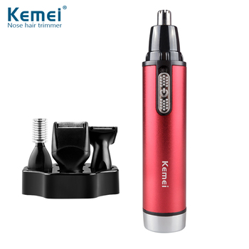 Delightful Kemei KM6620 The Best Ear Nose Hair Trimmer Nostril Hair Removal