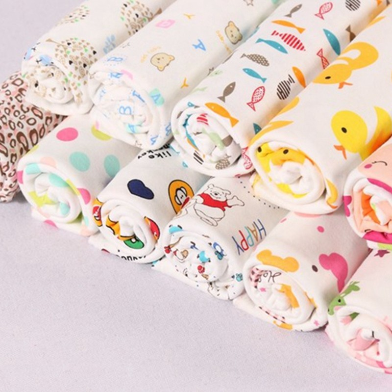 stock high quality cartoon custom printed interlock cotton printed fabric for children