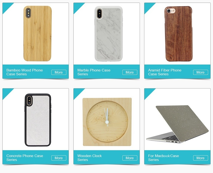 Factory Wholesale Bamboo Mobile Accessories Custom Design Top PC Frame Phone Case, Blank Antique Wood Cover for iPhone 8
