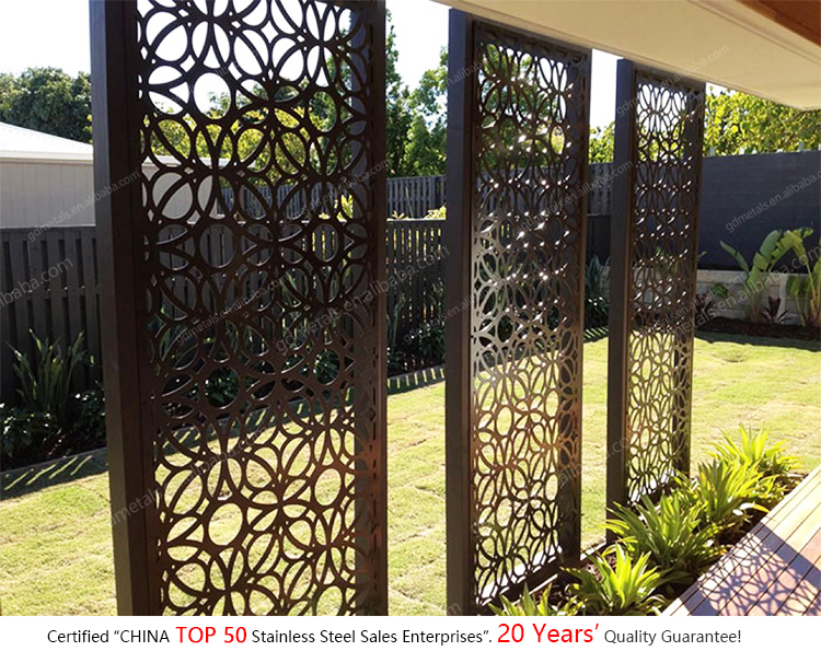 Stainless steel laser cut metal wall art screen wall panels partitions