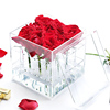 high quality clear square waterproof 9 Holes preserved rose box acrylic flower box acrylic rose gift box