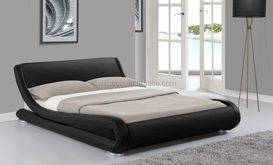 Fantastic S Shape PU Leather Bedroom Furniture Bed Frame 1881. Fantastic S Shape Pu Leather Bedroom Furniture Bed Frame 1881
