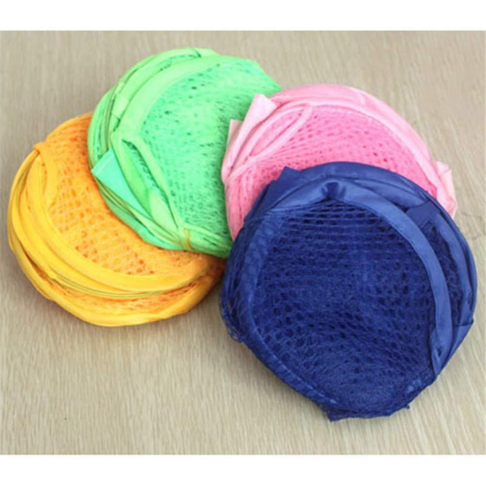 VHLL Dirty Clothes Basket Random Color Foldable Mesh Laundry Basket Washing Basket Garment Clothes Storage Dirty Clothes Random Color New