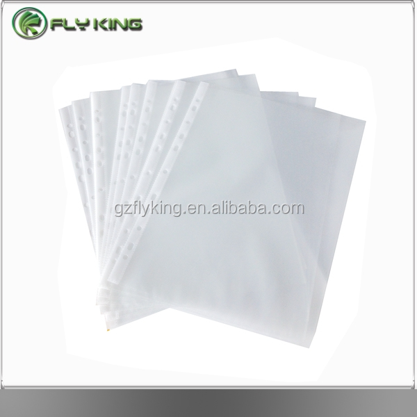 a4 11 holes clear plastic pp sheet protectors for ring binder