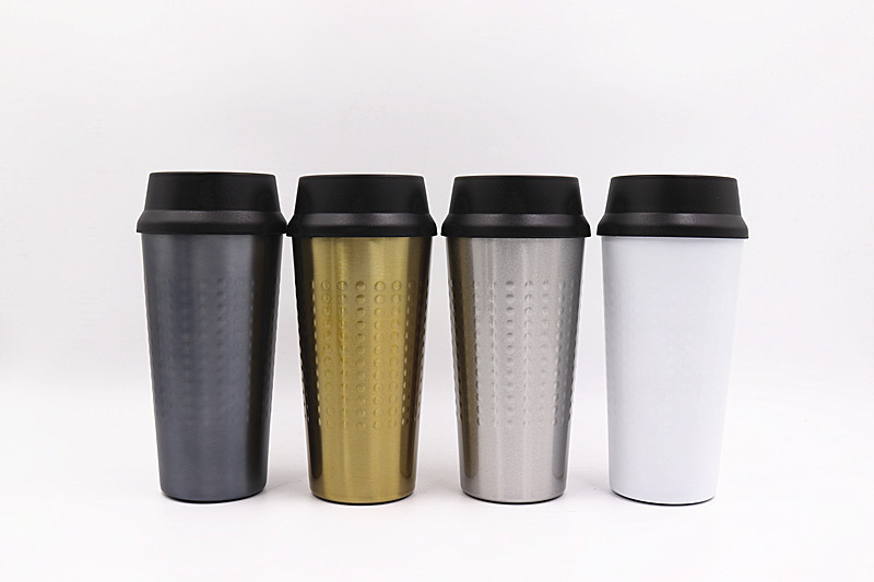 Stainless Steel Coffee Cup Heat Preservation Wholesale  Double Wall insulated stainless steel coffee mug with Lid