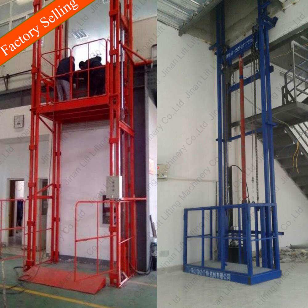 2ton vertical guide rail goods lift residential freight elevators freight elevators for warehouse
