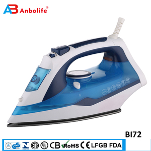 Anbo household big water tank ceramic professional garment vertical dry steam iron automatic self clean industrial steam iron