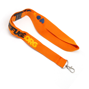 Custom Silkscreen Stainless Steel Whistle Lanyard With Metal Lanyard Hook