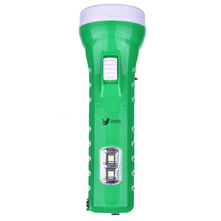 GG-2502 OEM rechargeable led solar power flashlight with side light