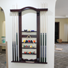 TB luxury high-grade solid wood customize billiard pool cue rack