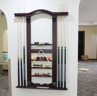 TB luxury high-grade solid wood customize billiard pool cue rack