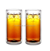 2016 new 16oz Strong Double Wall Thermo Glass Tumblers for Beer/Cocktail/Lemonade/Iced