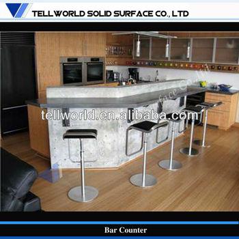 TW Modern Design Small Home Bar Counter Artificial Marble Bar Counter  (TW MACT