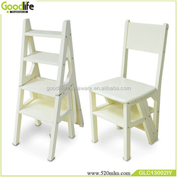 Goodlife New Multi Function Wooden Step Ladder Chair