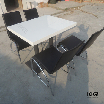 Kkr Acrylic Glossy Solid Surface Table Top With Plywood Underlayment Dining  Table