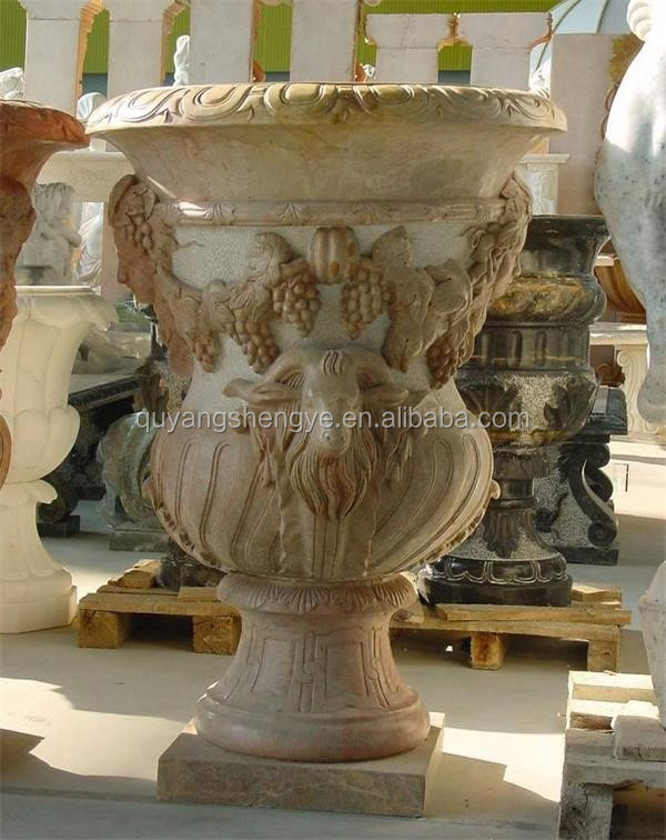 marble vase with beautiful design