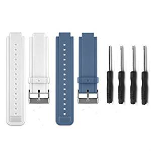 HWHMH Replacement Silicone Bands With Pin Removal Tools for Garmin Vivoactive (No tracker, Replacement Bands Only)
