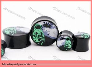 urban astronaut custom printed ear gauge plugs jewelry saddle ear piercing design