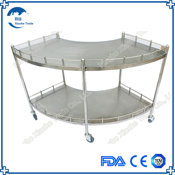 Hospital stainless steel fan shaped operation apparatus table