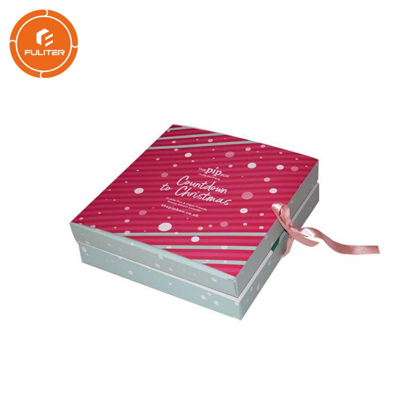 Özel Tasarım Noel Advent Takvimi Hediye Plastik Kutu ile Kağıt Kutusu Takvim
