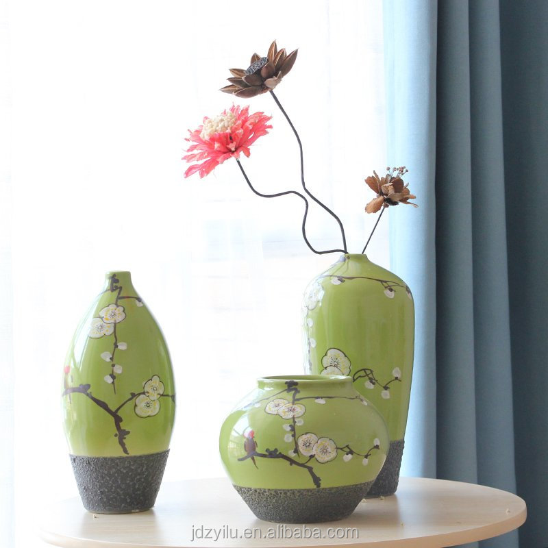 moderno al por mayor pintado a mano florero de cermica - Jarrones Modernos
