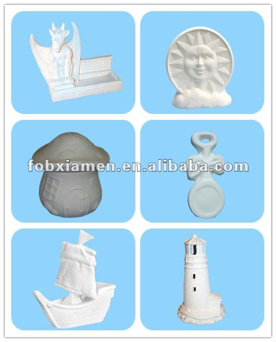 Wholesale handmade ceramic unpainted bisque