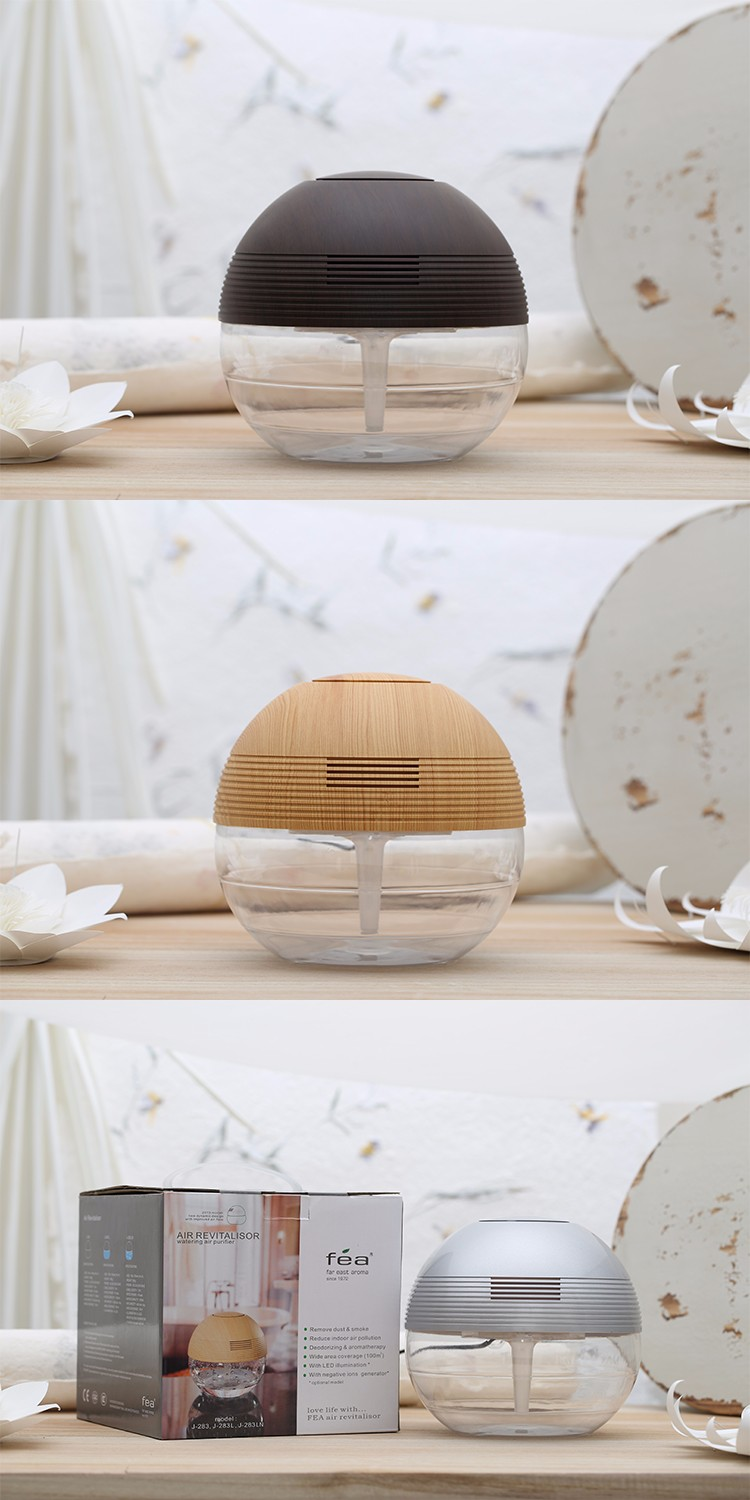 Creative Living Water Wooden Aroma Oil Air Revitalisor / Electrical Air Cleaner Ionize Purifier Home