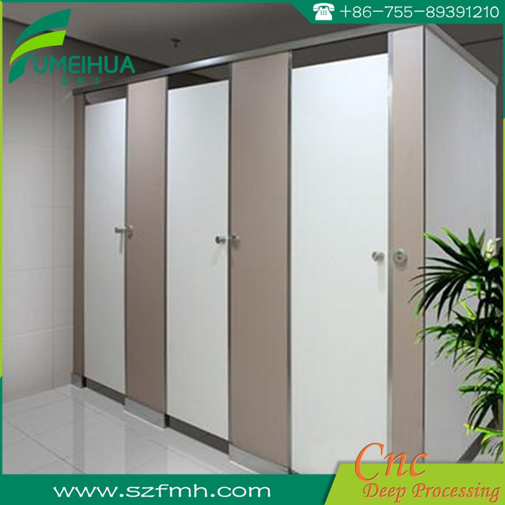 White 12mm floor mounted wc toilet cubicle partition supplier