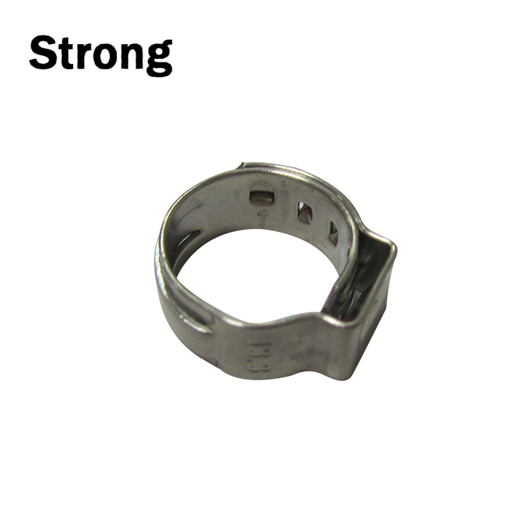 SS304 5mm bandwidth one ear hose clamp for locking tube part