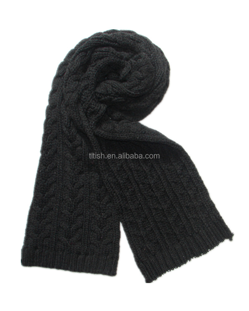 china factory 100% acrylic fan knitting jacquard scarf