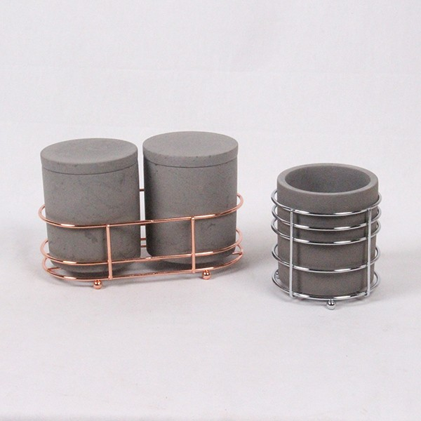 Large Concrete Candle Tin Container / New Design Candle
