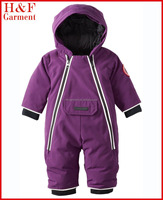 Baby girls winter clothing very warm padding in plain purple