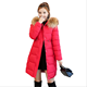 2018 Winter Coat Women Long Down Cotton Jacket Thickening Warm Parkas Outwear Female Winter Clothing Hooded Big Fur