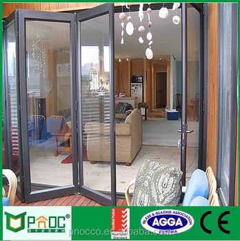 Single Glazing Aluminium Folding Bathroom Door With Factory Price ...