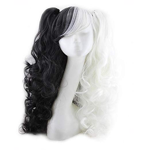 65cm Long Wavy Black Mixed Blonde Lolita Girls Fashion Cosplay Full Wig+wig Cap Heat Resistant Good Reputation Over The World Hair Extensions & Wigs