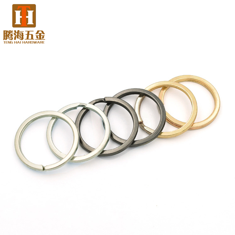 Wholesale cheap metal parts key chain rings for DIY